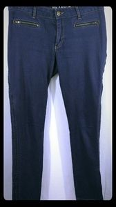 L.A.M.B. by Gwen Stefani Purple Jeans Zippers 8